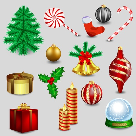 New Christmas Collection Stock Vector - 11133409