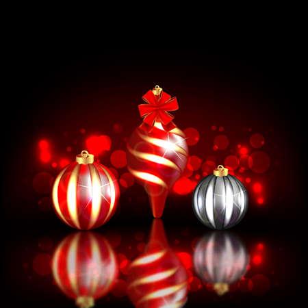 fizz: Dark Christmas Background Illustration