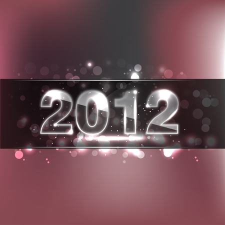 New Year Glass Numbers - 2012 Stock Vector - 11432995