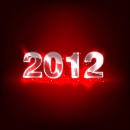 Glowing Glass New Year Numbers - 2012 Stock Vector - 11657121
