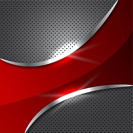 metalic: Abstract Red Metalic Hintergrund Illustration
