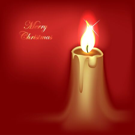 Abstract Christmas Candle Stock Vector - 11657113
