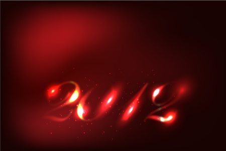 New Year 2012 Abstract Glow Numbers Stock Vector - 11657115