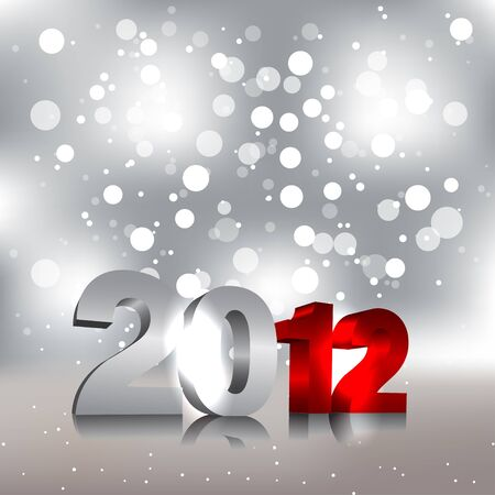 New Year Design Template - 2012 Vector