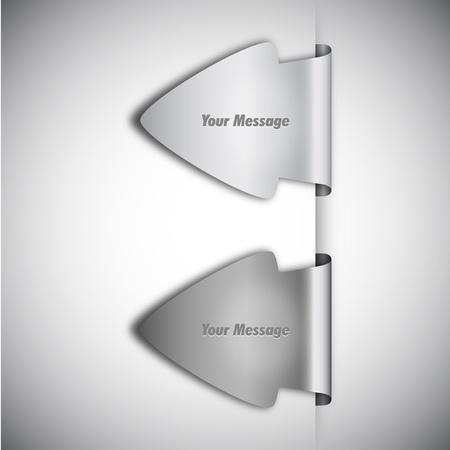 tabs: Vector Arrow Labels Illustration