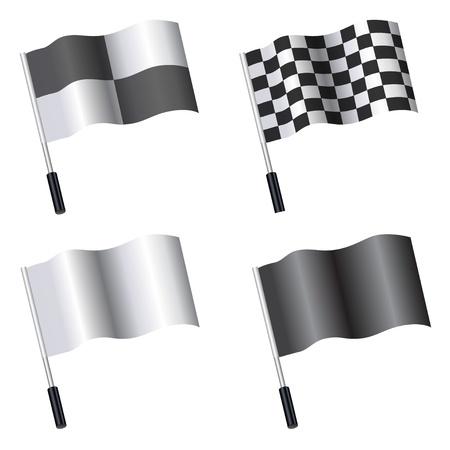 raise the white flag: Vector Flag Template