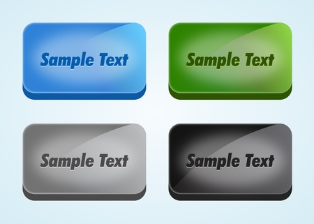 Set of Vector Buttons Vector