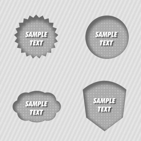 Pressed Vector Labels Vector