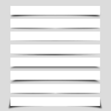 web side: Colecci�n de las sombras vectoriales con cajas