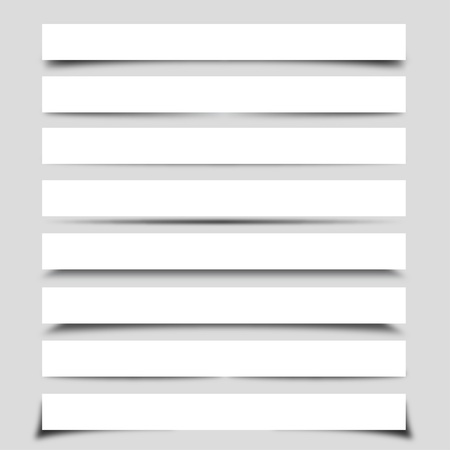 Collection of Vector Shadows With Boxes Vector