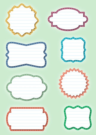 Ornate Paper Frames - Labels Vector