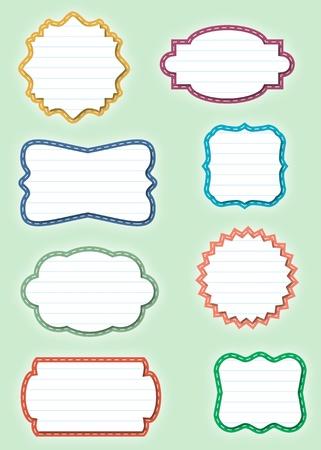 cute text box: Ornate Paper Frames - Labels