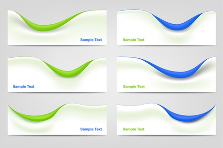 Wavy Business Templates Stock Vector - 13545769
