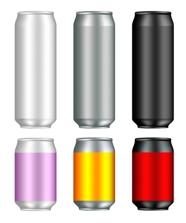 energy drink: Aluminum Can Templates