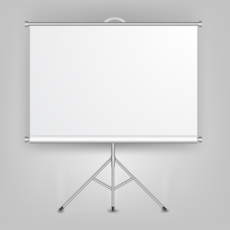 Blank Presentation Screen Stock Vector - 13545689