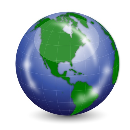 Earth Globe Stock Vector - 13545810