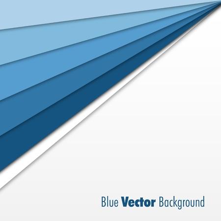 profundidad: Fondo Azul Vectores