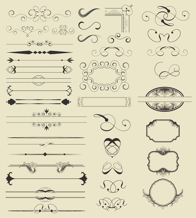 Calligraphic Vector Shapes Stock Vector - 13545690