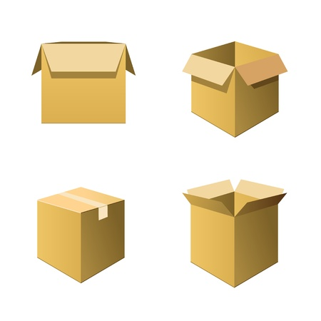 Cardboard Boxes Stock Vector - 13545686