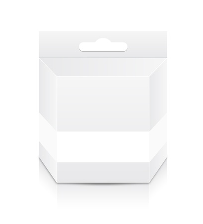 ink jet: Blank Cartridge Box Template Illustration