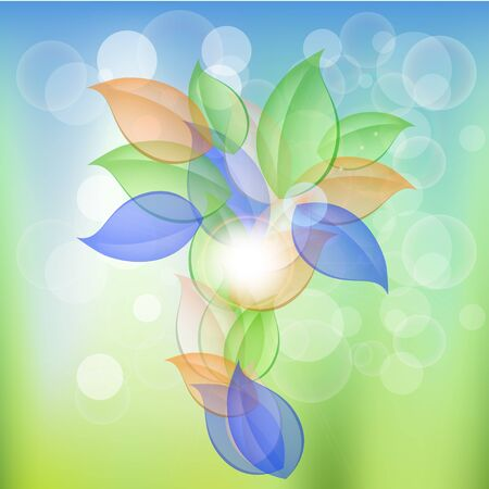 Abstract Leaves Concept Vector