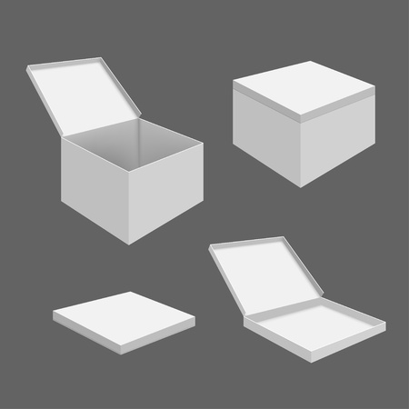 White Blank Boxes Vector