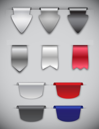 Ribbons and Bookmarks Vector