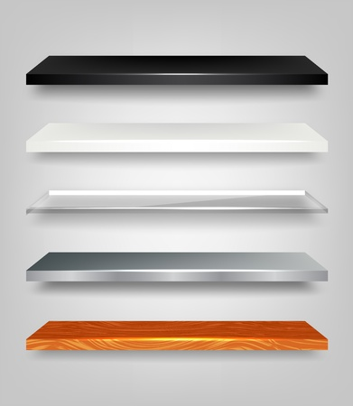 Shelves Set Vector