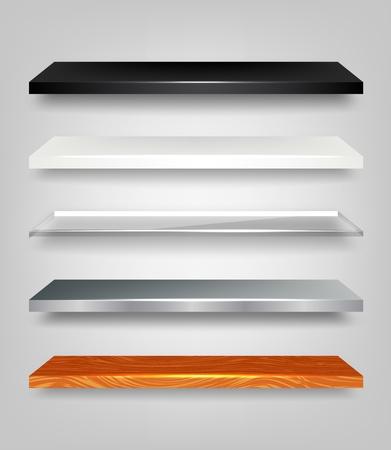 wooden shelves: Shelves Set