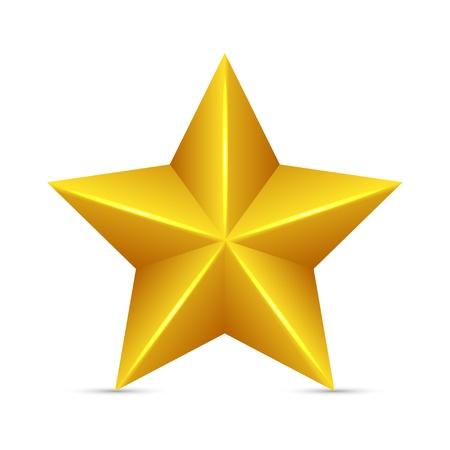 광택 노란색 별