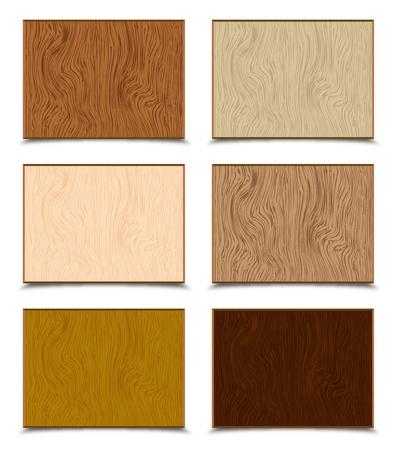 caoba: Texturas de madera Set
