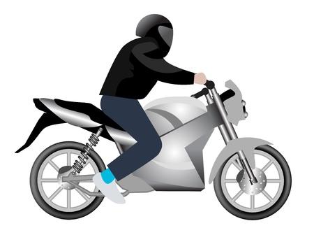 jinete: Motocicleta Vectores
