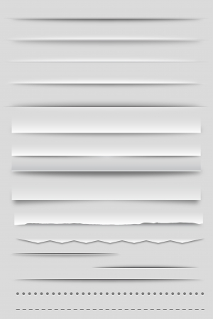 Web Dividers and Shadows Vector
