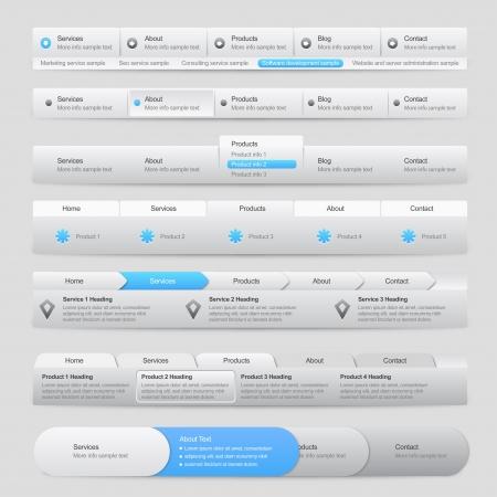 user interface: Web Site Menu Navigation Illustration
