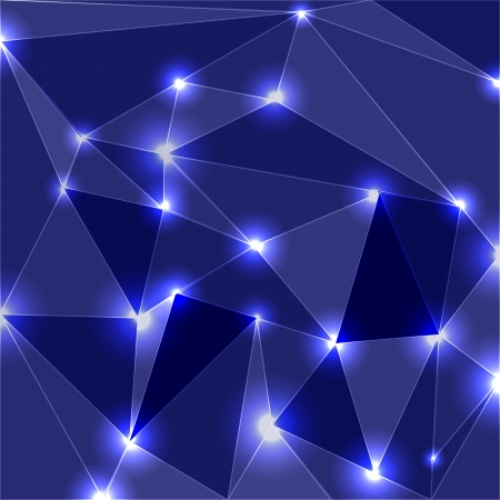 Geometric Glowing Background Stock Vector - 14754005
