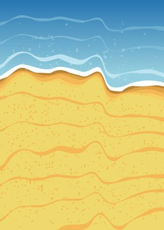 coastlines: Beach Background Illustration