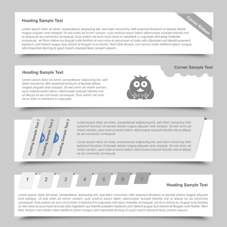 interface elements: Web Banners and Sliders