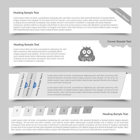 Web Banners en schuifregelaars
