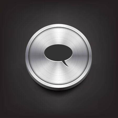 komentář: Metal Button s komentáři Ikona