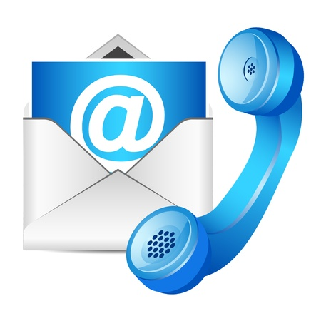 Contact Us Icon Illustration