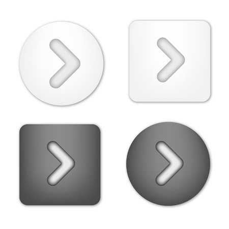 Arrow Navigation Buttons Vector