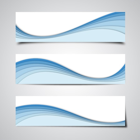 Blue Banner Backgrounds Vector