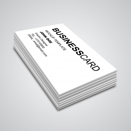 3d Business Card Mockup Vector