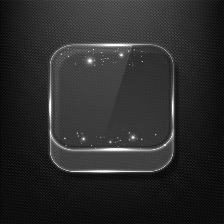 Glass App Icon Vector