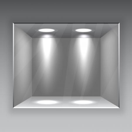 showcase interior: Negozio scaffale vuoto