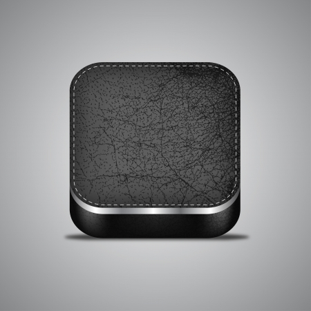 rounded: Leather and Metal App Icon Illustration