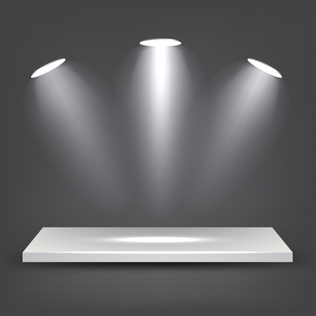 3d White Shelf Vector