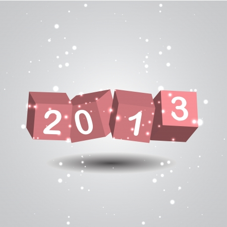 2013 New Year Digits Stock Vector - 16364665