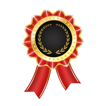 Award Label with Ribbon Stock Vector - 17604474