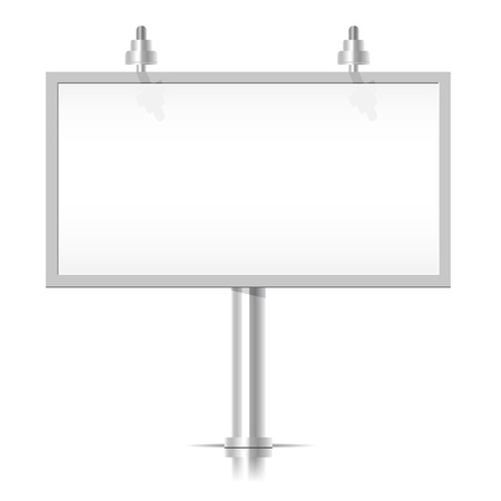 White Bilboard Stock Vector - 17604466